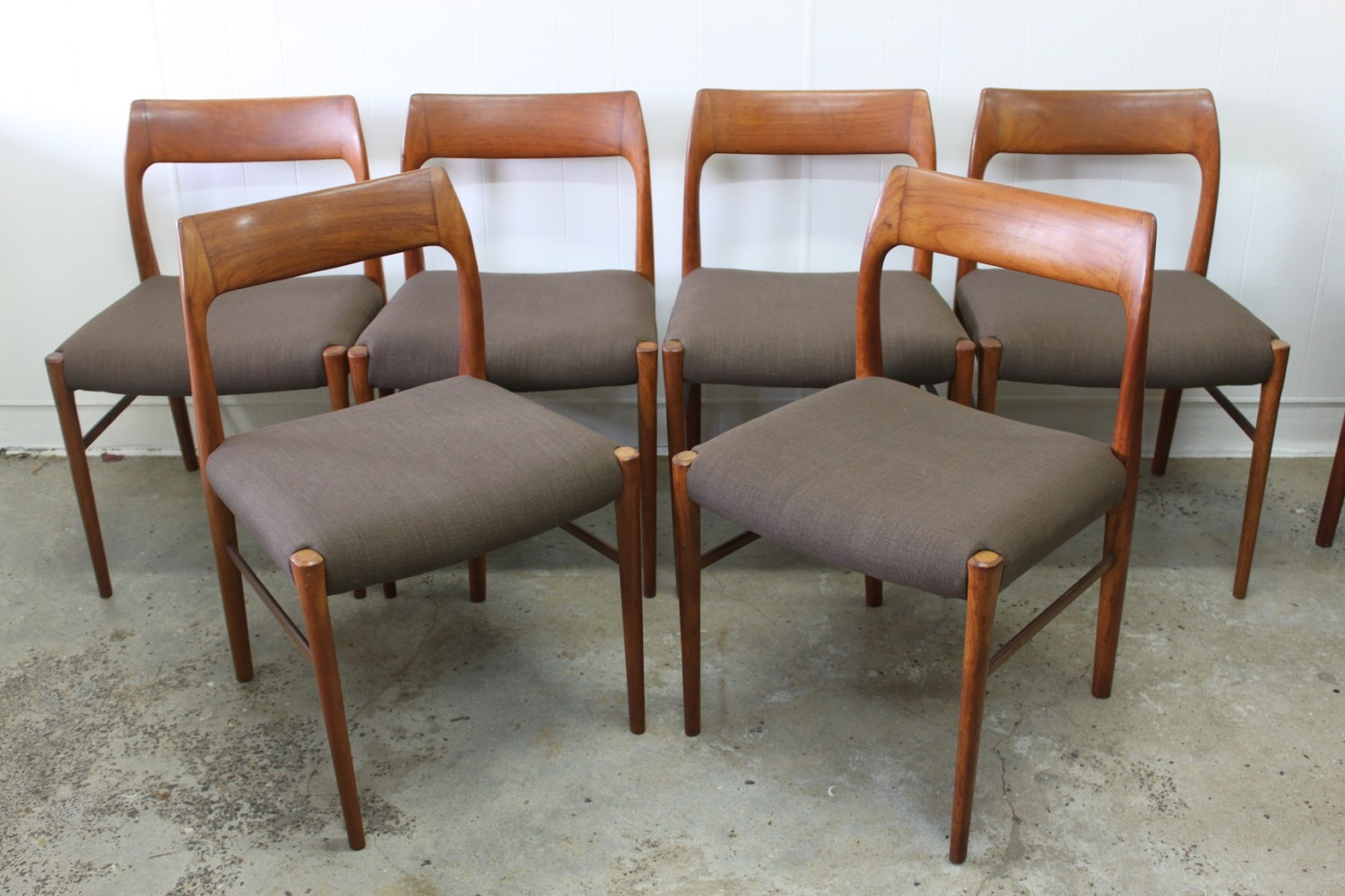 Spade Back Dining Chairs x6