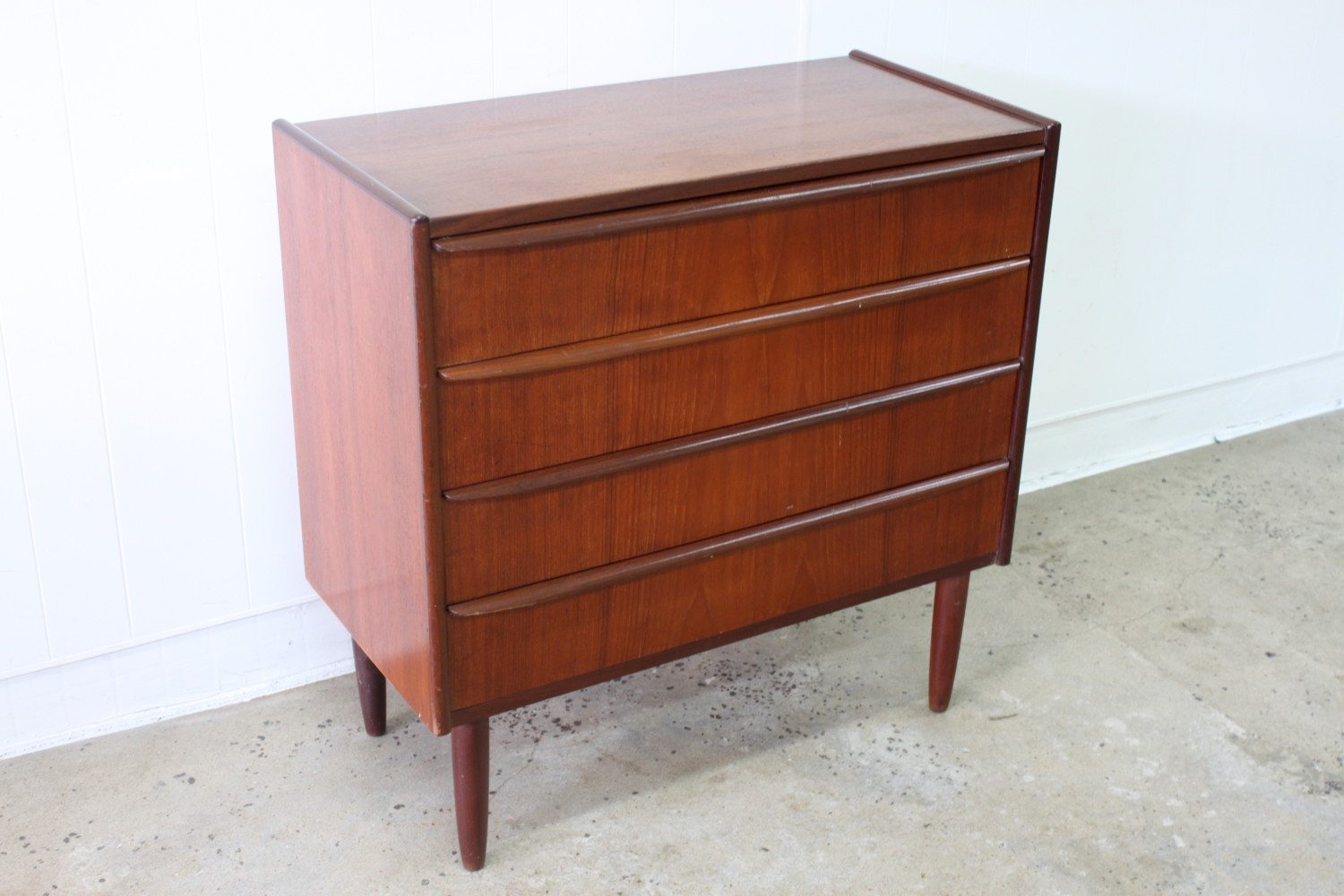 Compact Teak Chest Of Drawers