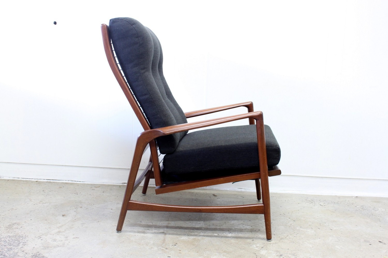 IB Kofod Larsen Chair and Footstool