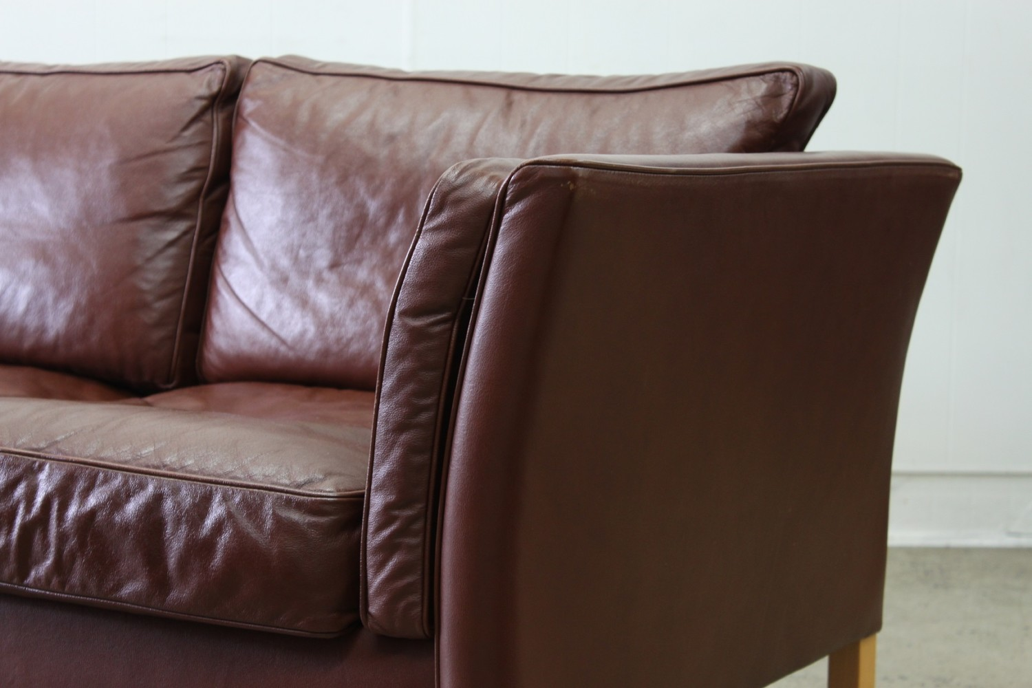 Three Seater Brown Sofa