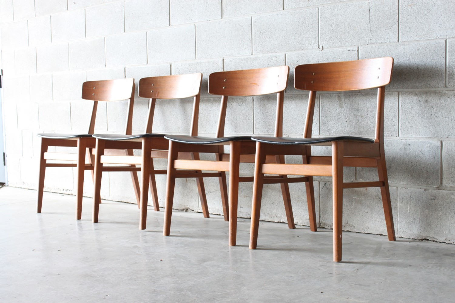 Teak Dining Chairs By Farstrup Mobelfabrik x4