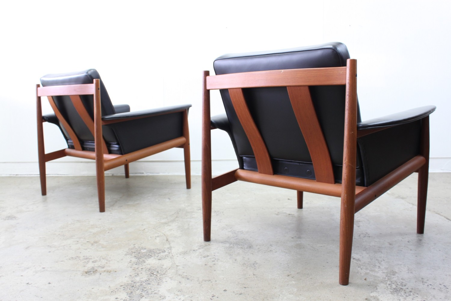 Pair of Armchairs by Grete Jalk