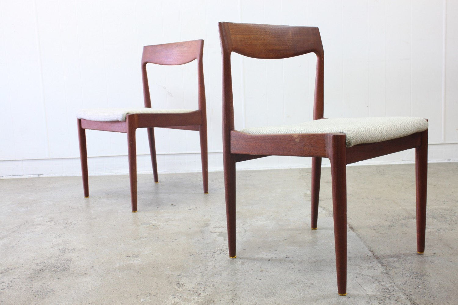 Teak Dining Chairs by H.W Klein