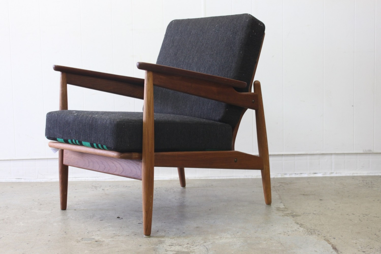 Danish Oak + Teak Arm Chairs