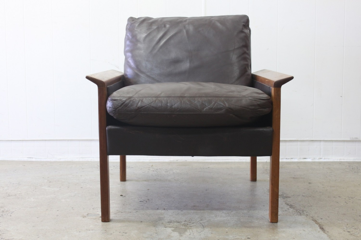 Leather Arm Chairs by Hans Olsen