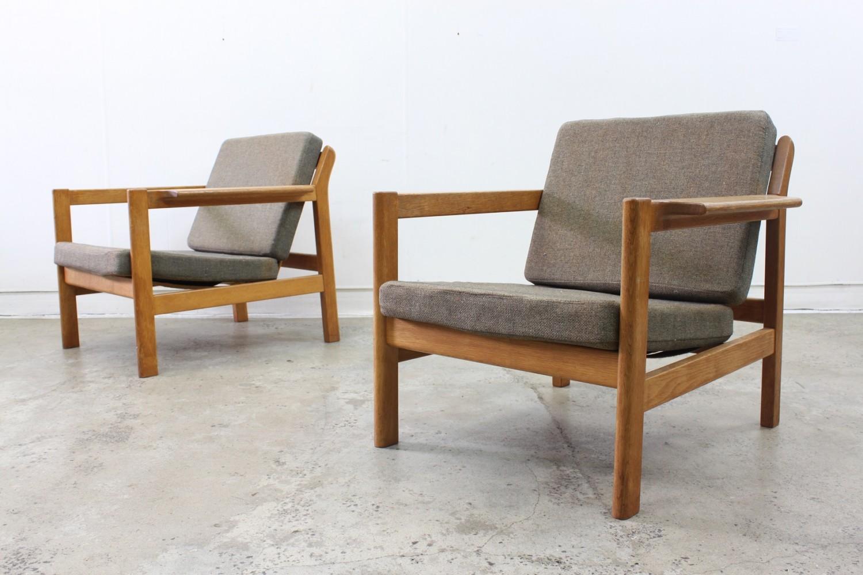 Oak armchairs by Borge Mogensen