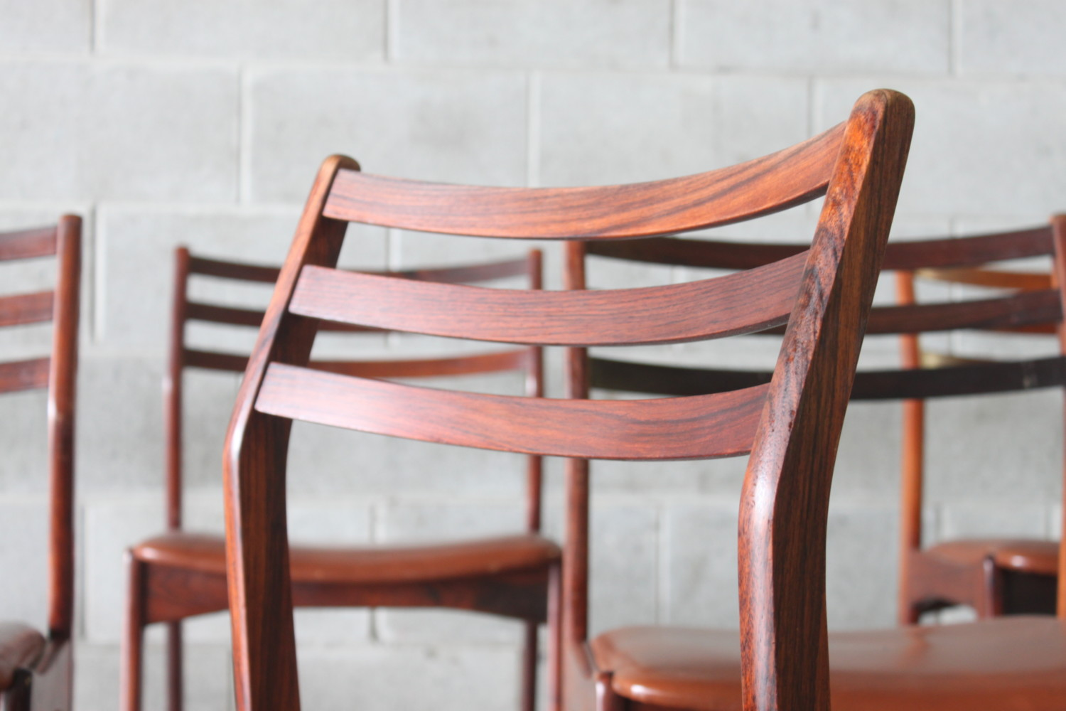 Rosewood Dining Chairs by Vestervig Eriksen