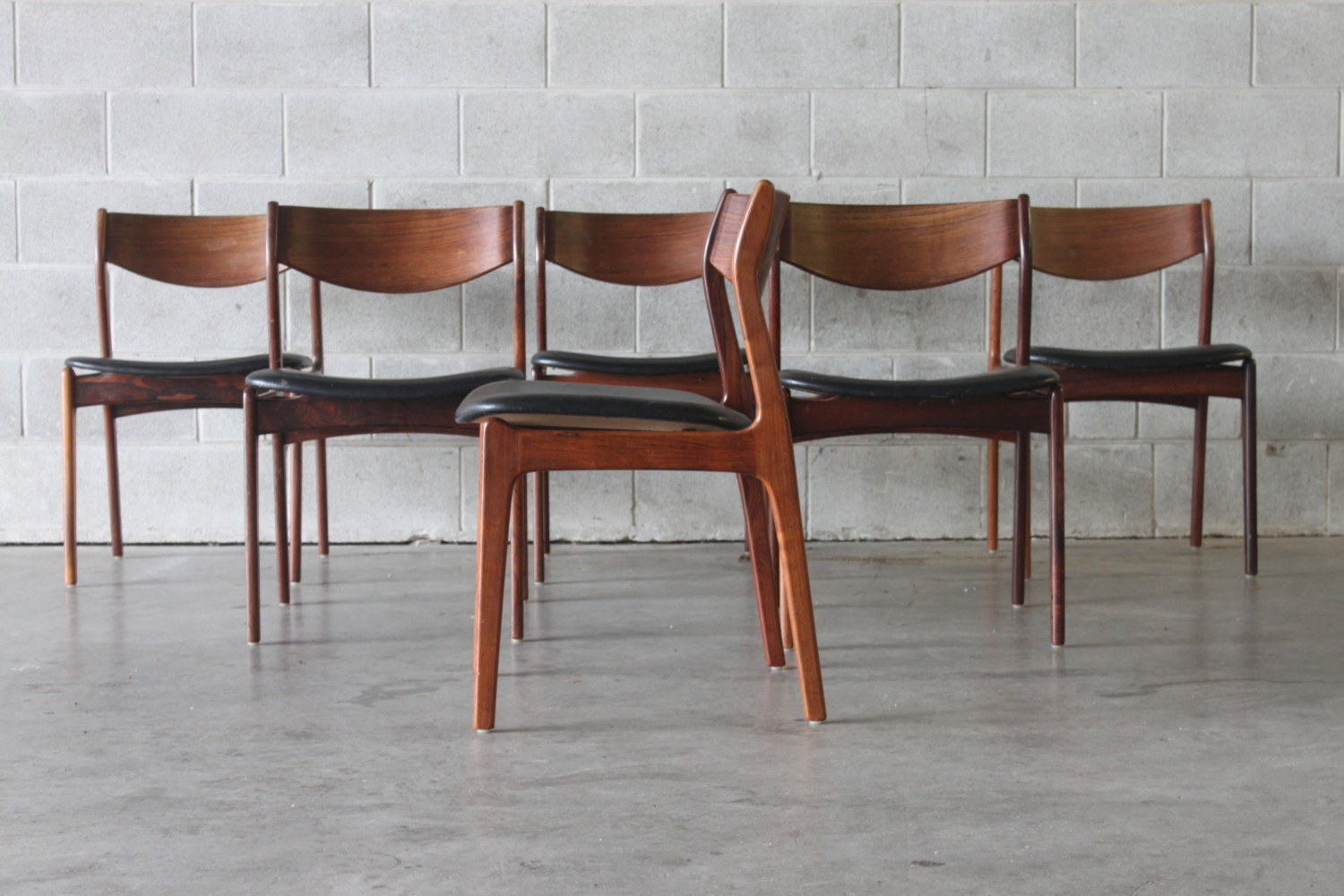 Rosewood Dining Chairs by P.E Jorgensen