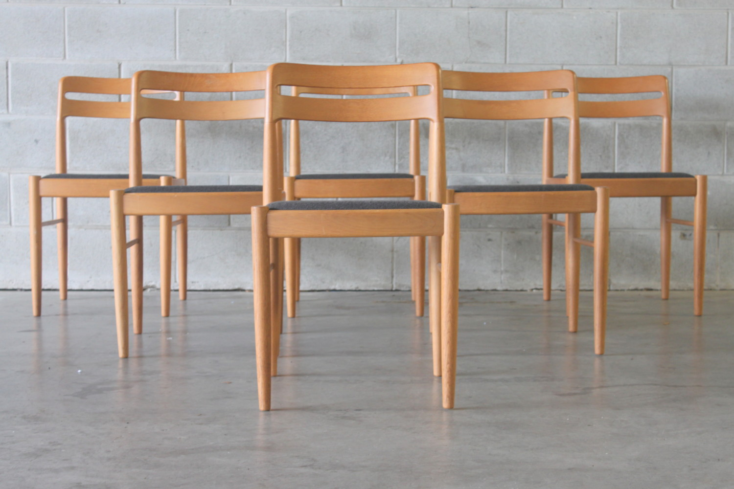 Oak Dining Chairs By Bramin