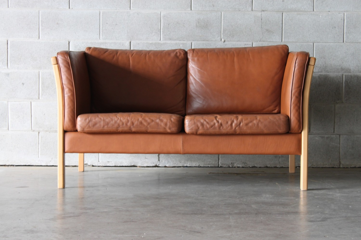 Tan Leather 2 Seater Sofa The Vintage Shop