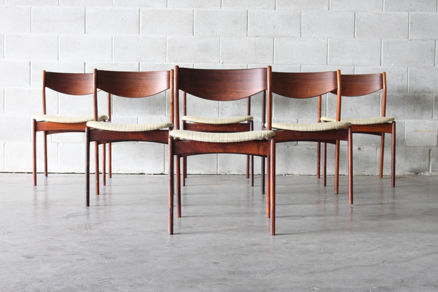 Rosewood Dining Chairs By P.E Jorgensen Sold