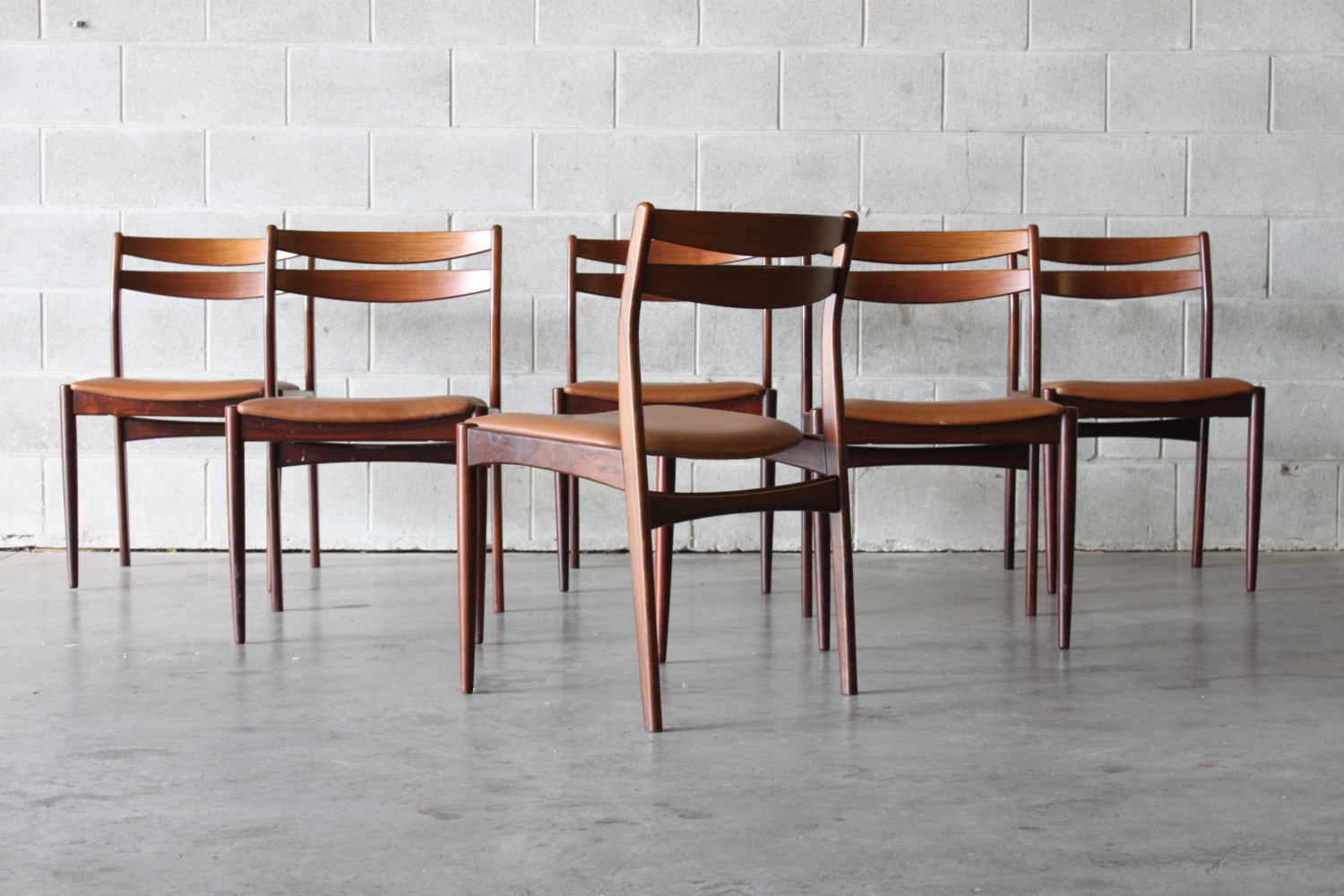 Rosewood & Leather Dining Chairs