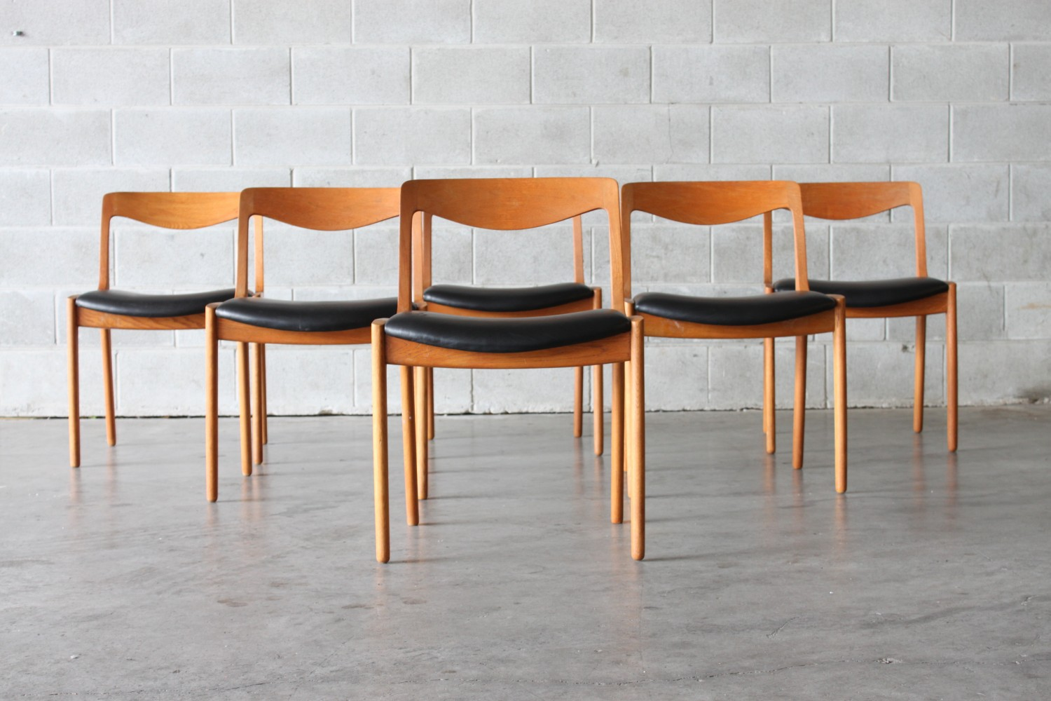 Oak & Leather Dining Chairs