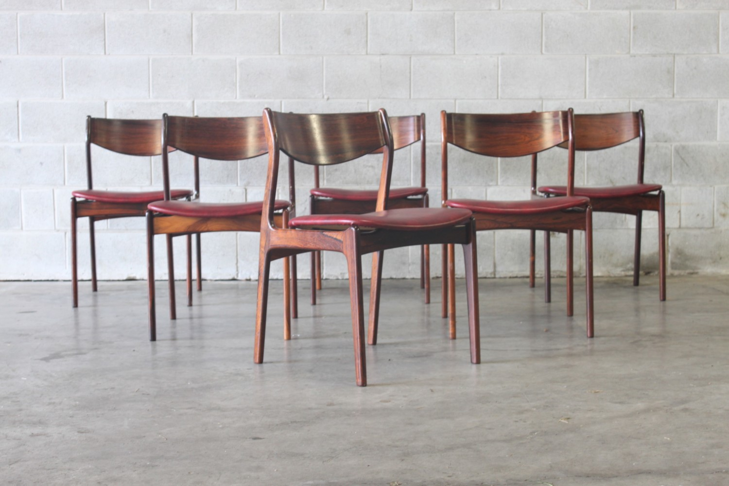 Rosewood Dining Chairs by PE Jorgensen