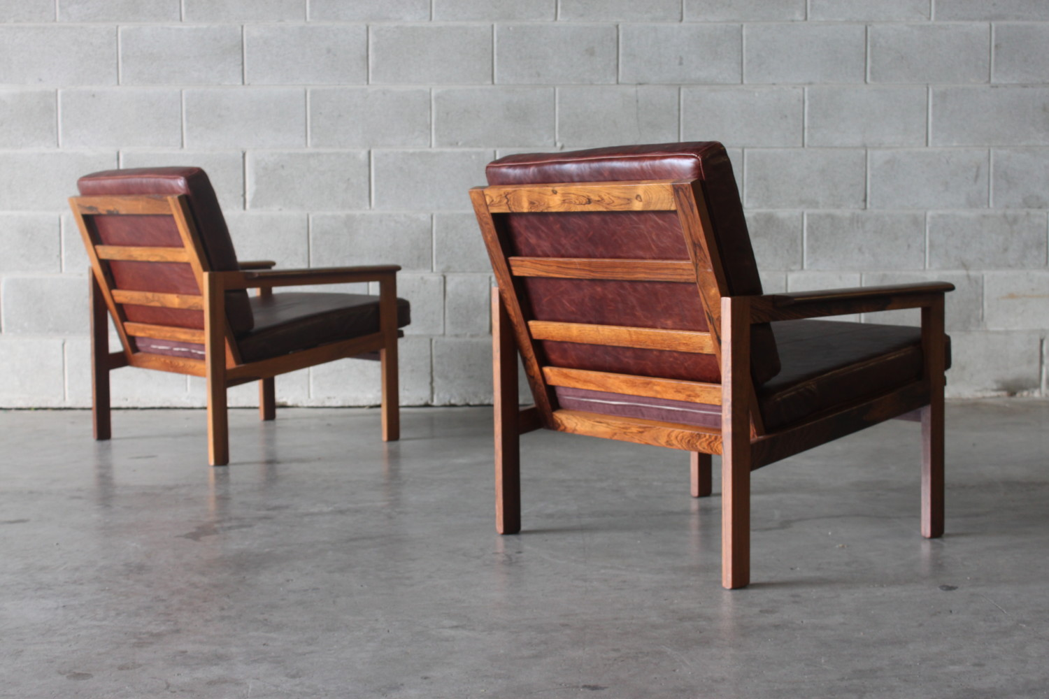 Rosewood Armchairs by Illum Wikkelso