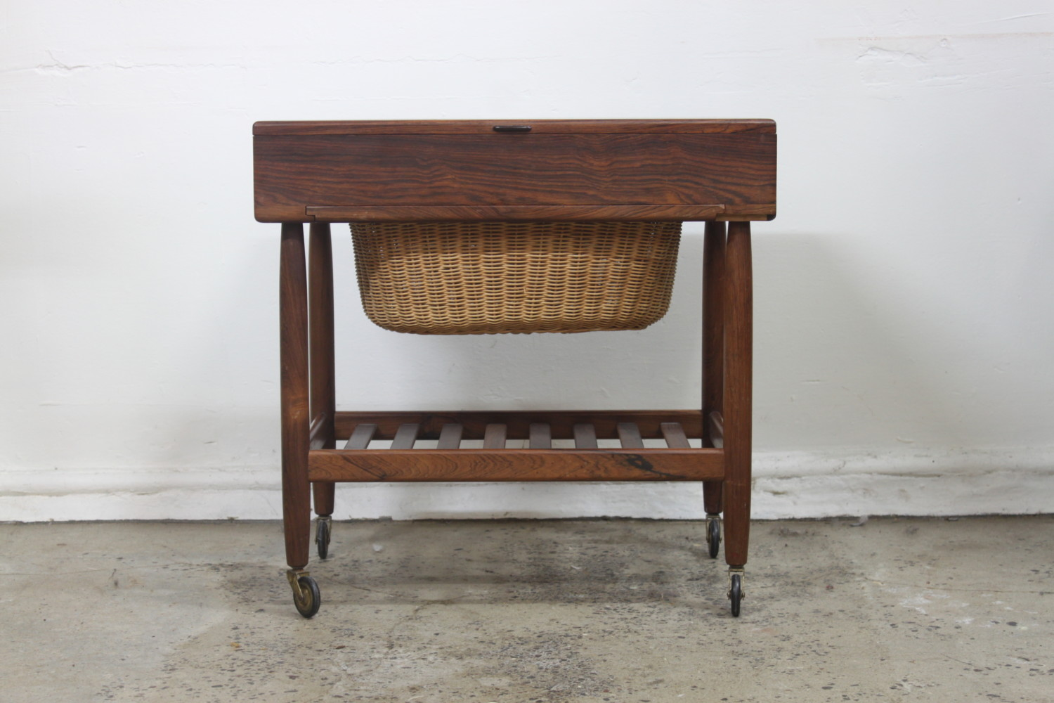 Danish Rosewood Sewing Table by Ejvind Johansson