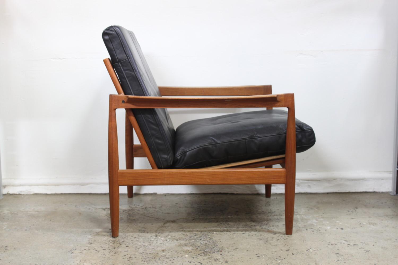 Teak & Leather Armchair