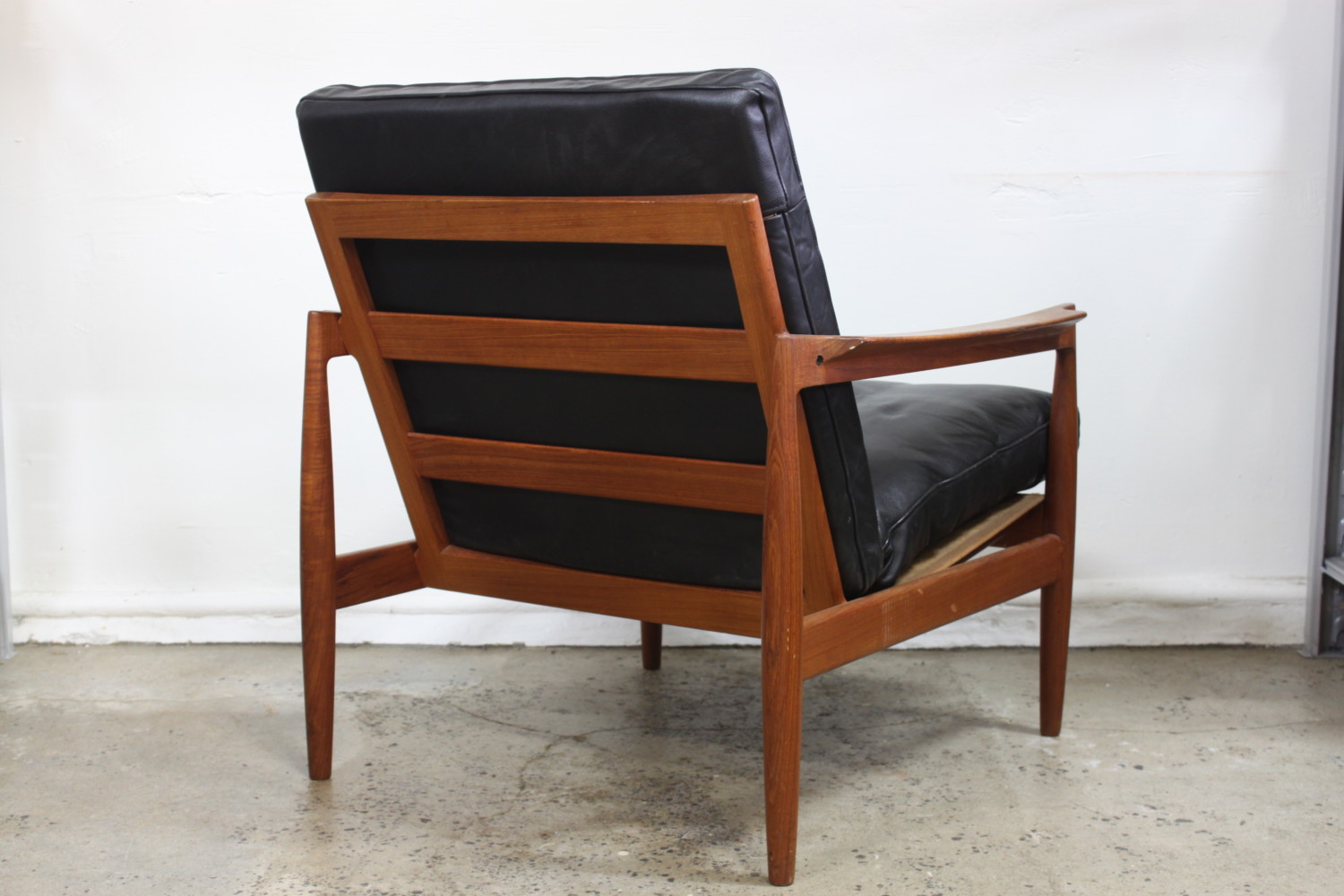 Teak & Leather Armchair