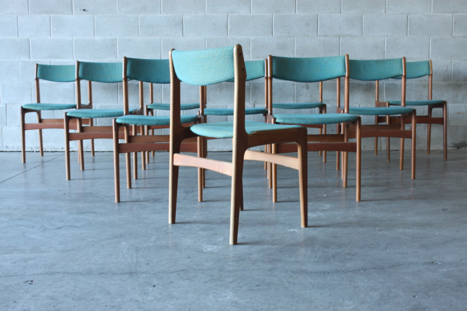 Teak Dining Chairs Erik Buch