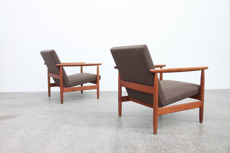 Pair of Danish Armchairs By Ejvind Johansson