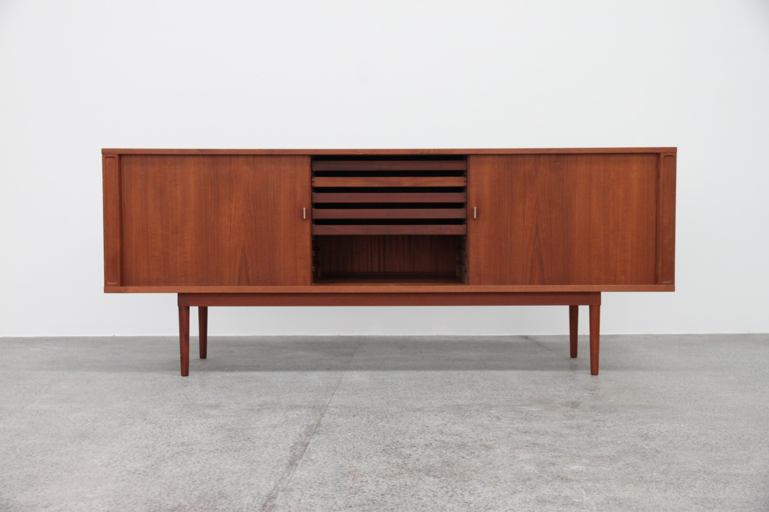 Tambour Door Sideboard By Peter Lovig