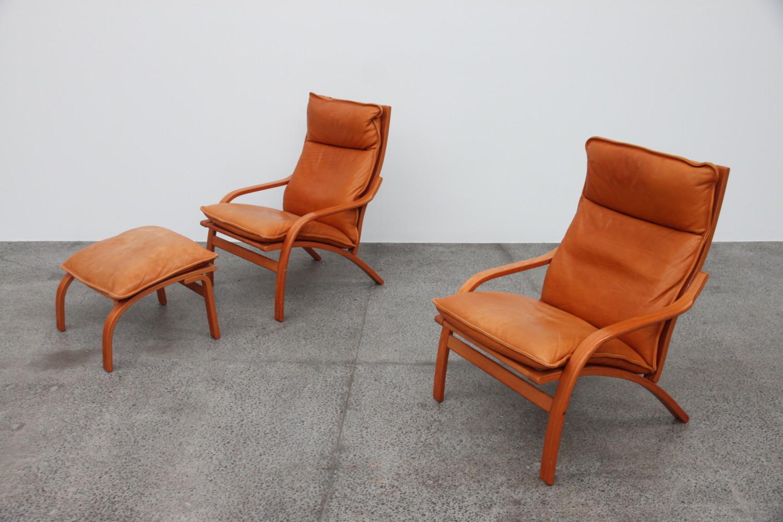 Pair of Tan Armchairs