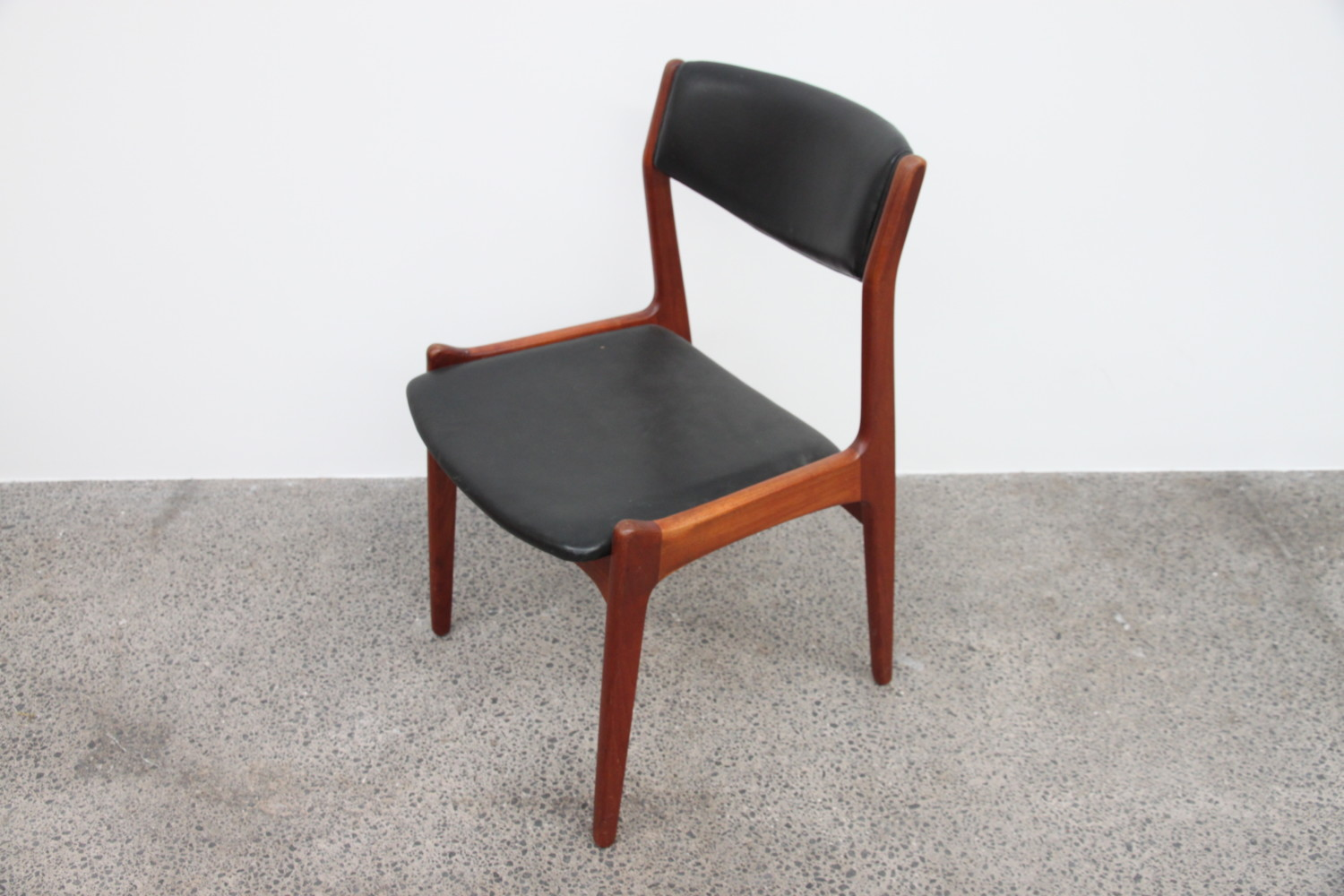 Danish Dining Chairs in Leather