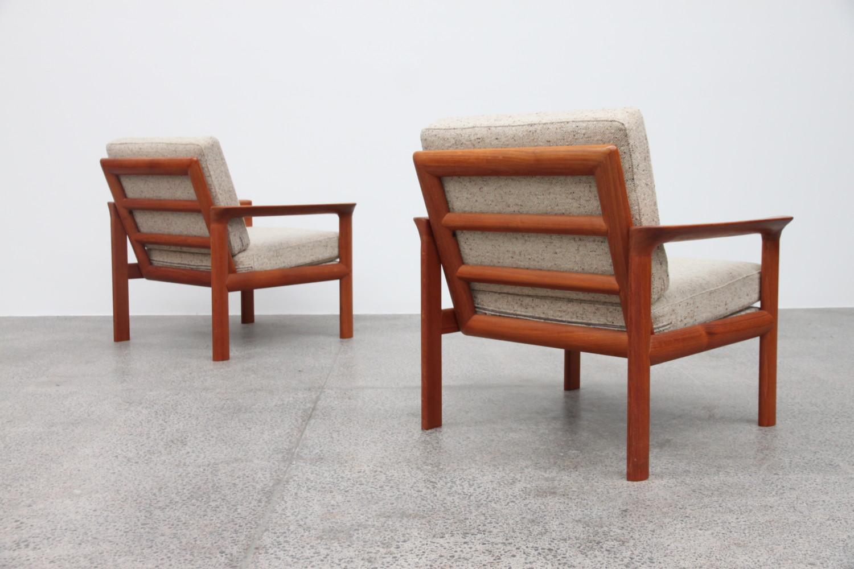 Danish Teak & Wool Armchair