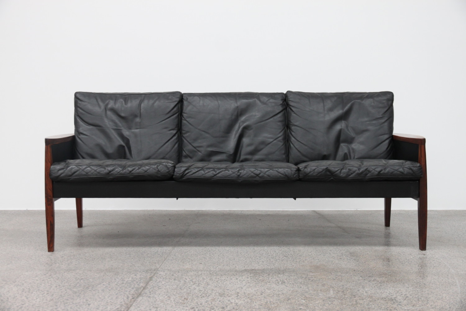 Leather Sofa by Hans Olsen sold