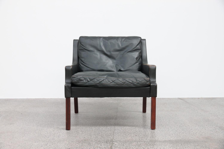 Danish Leather Armchair