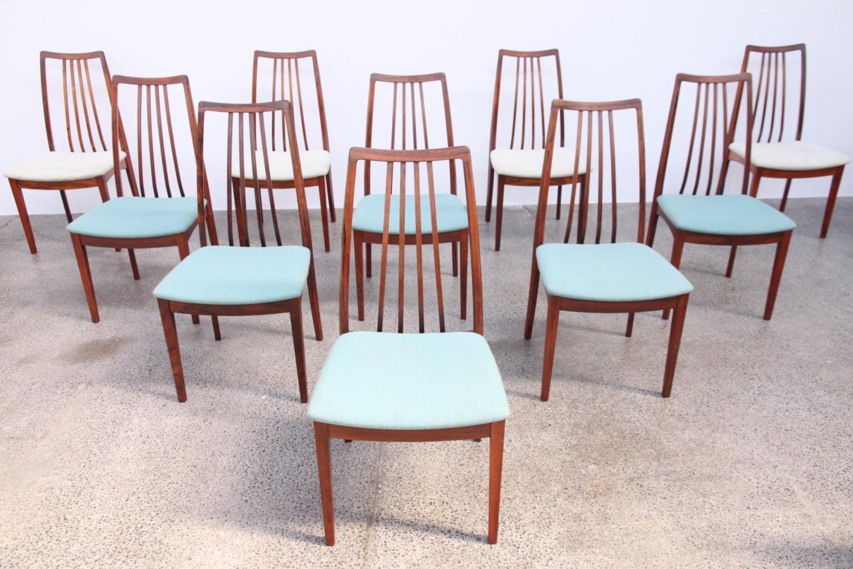Danish Dining Chairs by Kofod Larsen
