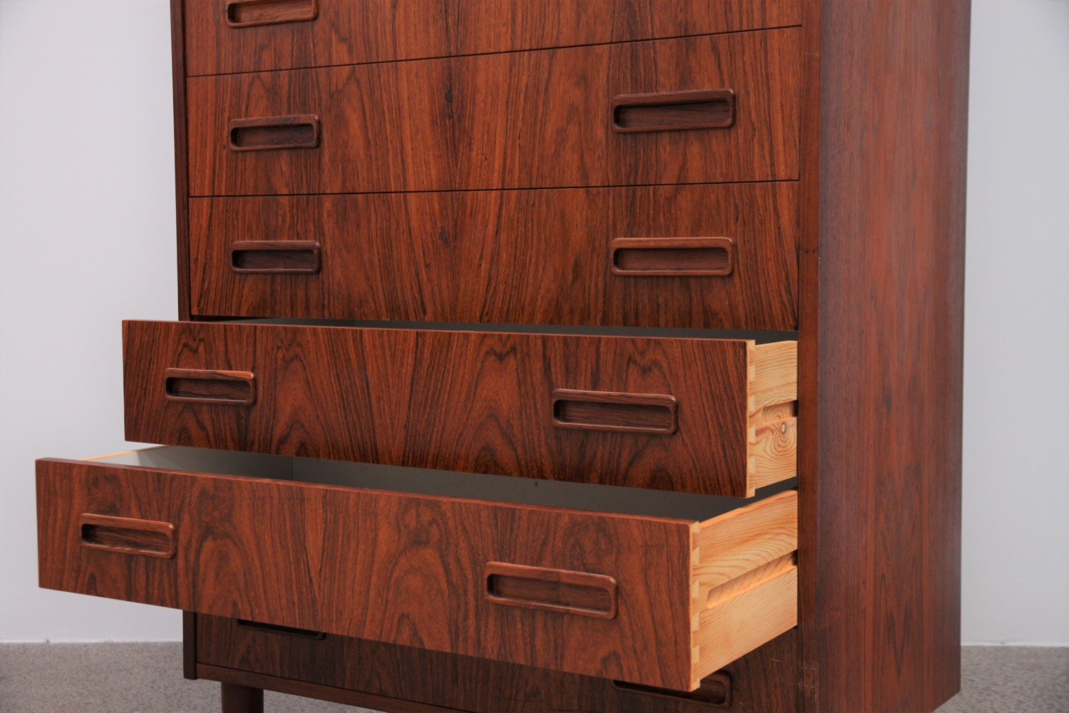 Rosewood  7 Drawer Tallboy