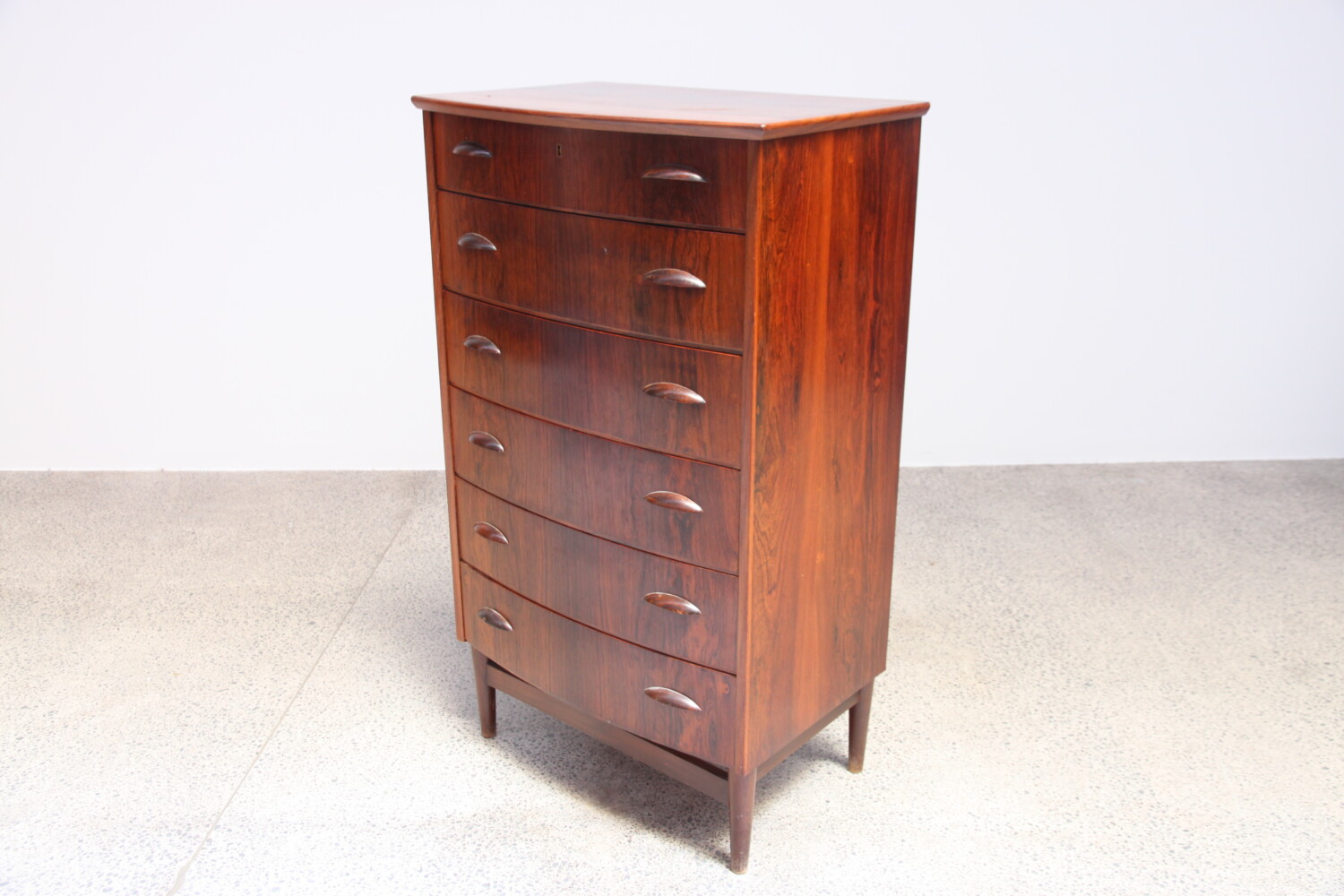 Bow Front Tallboy