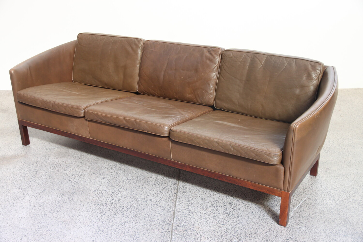 Leather Sofa  by Illum Wikkelso