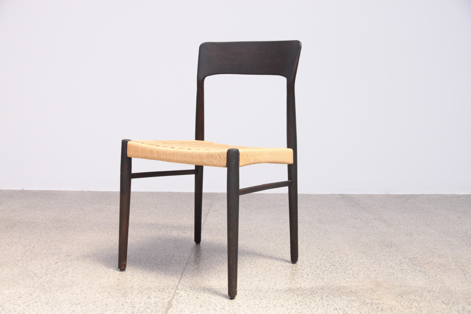 Danish Dining Chairs With Papercord Sold