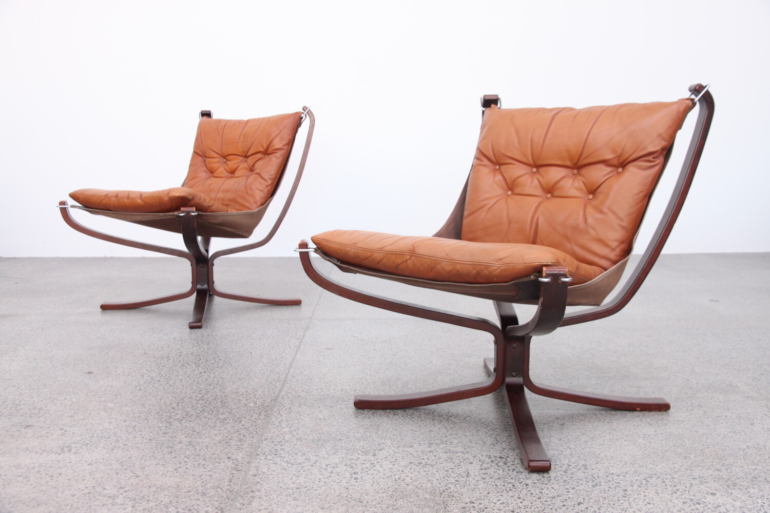 Pair of Tan Falcon Chairs