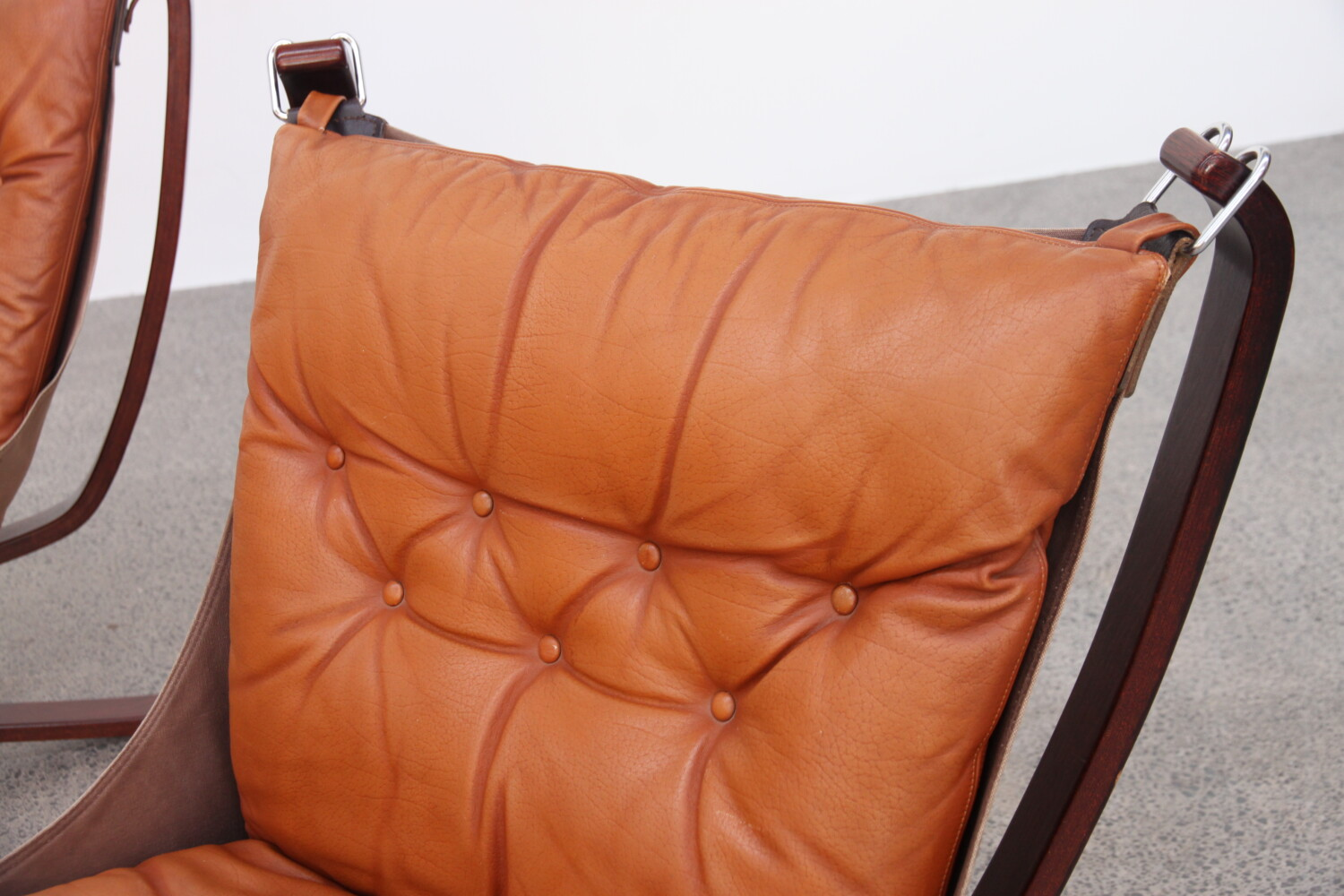 Pair of Tan Falcon Chairs sold