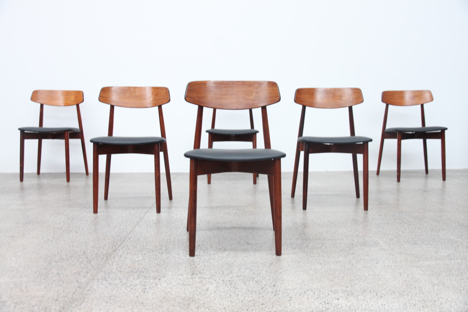 Rosewood Dining Chairs by Harry Ostergaard