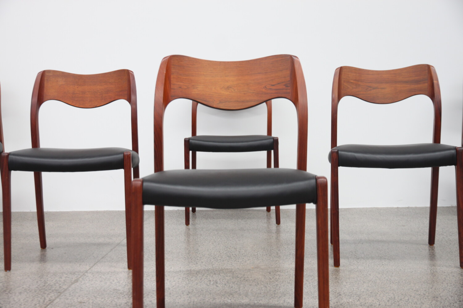 Model 71 Dining Chairs by Niels Moller