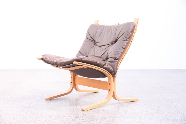 Beech & Leather Siesta Chair