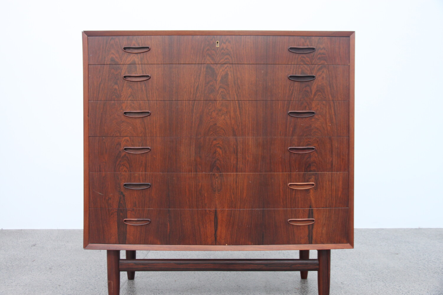 Rosewood Bow Front Drawers