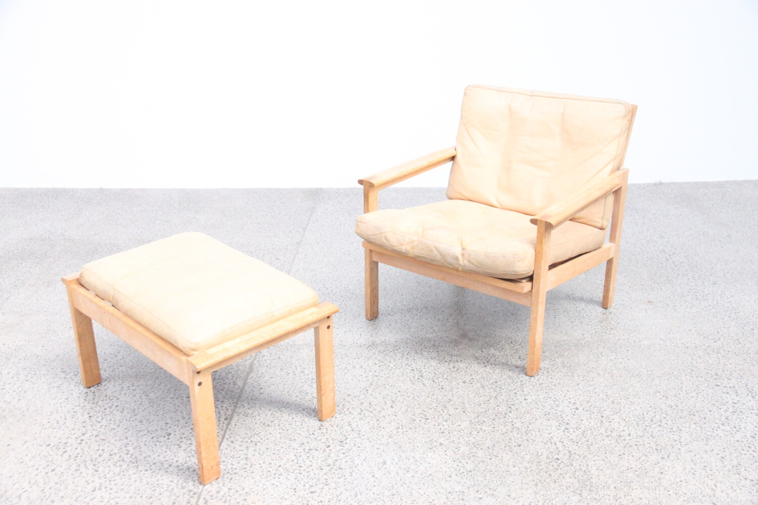 Armchair and Footstool by Illum Wikkelso