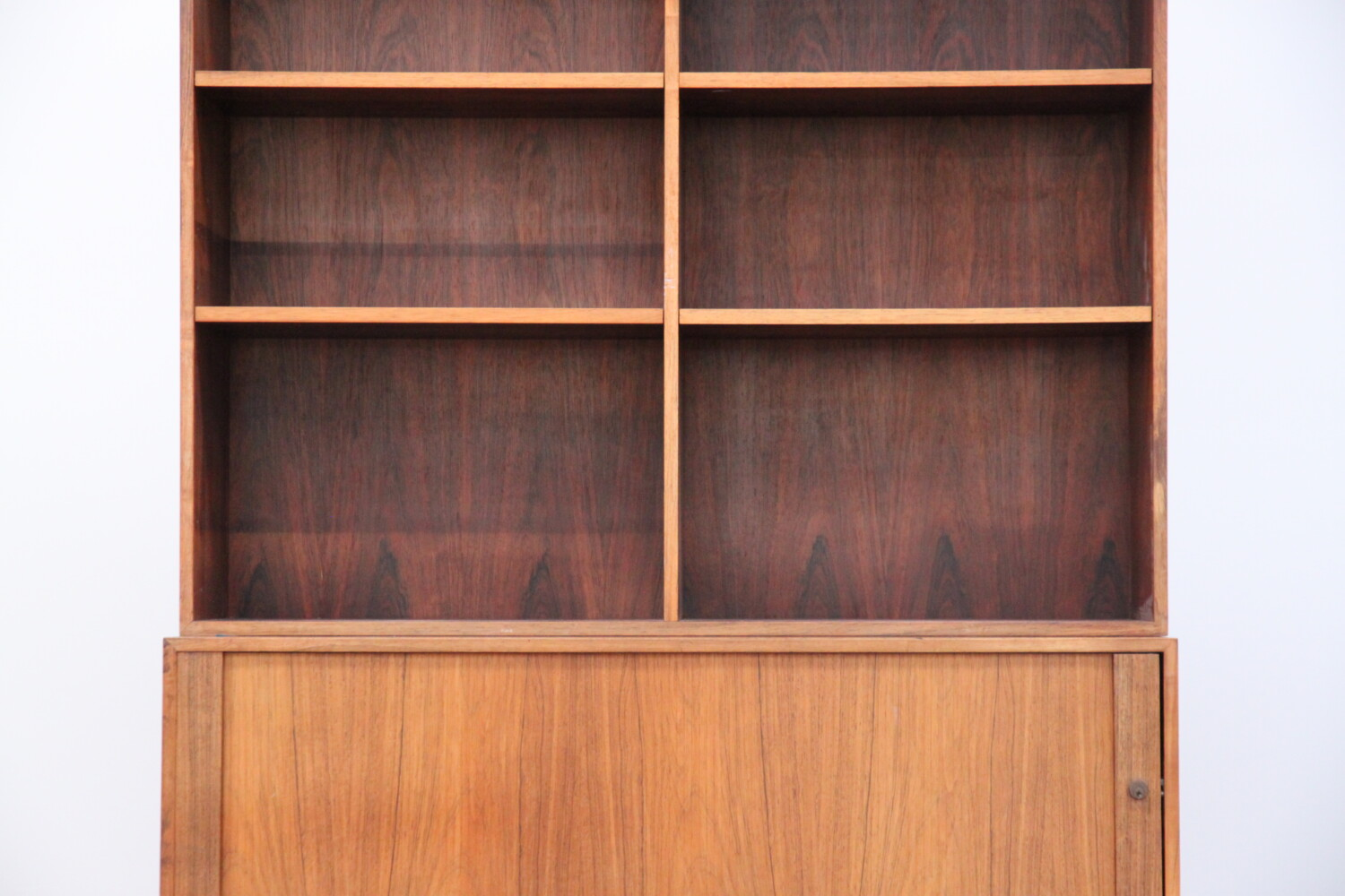 Rosewood Bookcase with Cupboard
